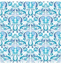 Gzhel style damask background vector