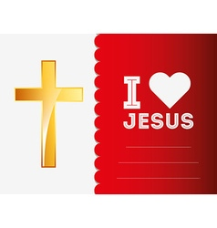 i love jesus design vector image