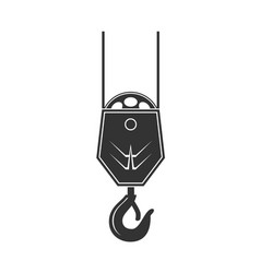 icon of crane hook vector image vector image