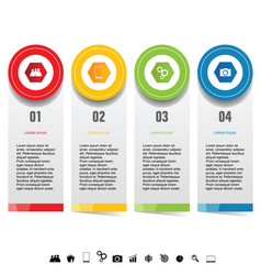 infographic set with icon design vector image