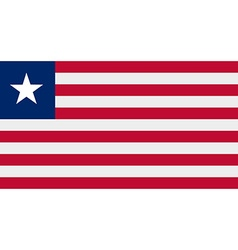 Liberian flag vector image