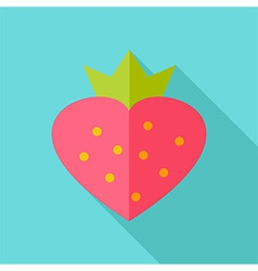 Lovely sweet strawberry vector image