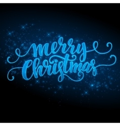 Merry Christmas made a sparkler vector image vector image