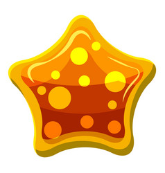 Orange star shaped candy icon cartoon style vector