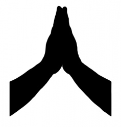 Praying hands vector