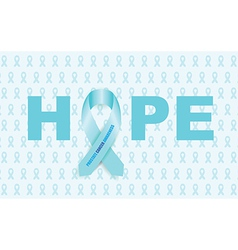 prostate cancer ribbon vector image vector image