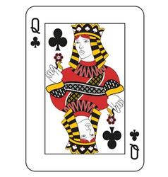 Queen of clubs vector