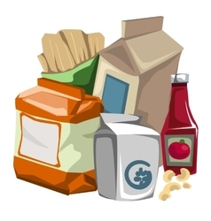 Set of grocery products the consumer vector image vector image