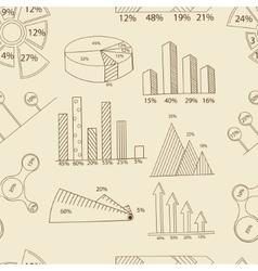 Set of infographics seamless retro vector