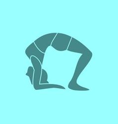 Silhouette of wheel pose yoga posture vector