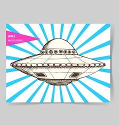 Sketch ufo plate vector image