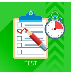 Test Flat Icon Set vector image vector image