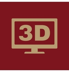 The 3d icon monitor and display screen movie vector