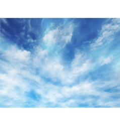 Wispy clouds vector image vector image