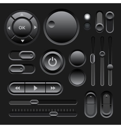 Black web ui elements design vector