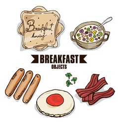 Breakfast object a vector