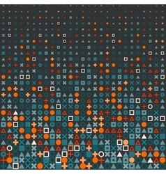 Circle square cross shapes halftone grid vector