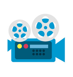 movie camera to projection scene vector image