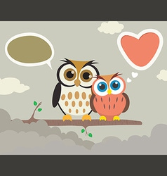 Couple Owl vector image