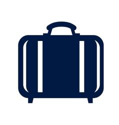 Travel bag icon vector image