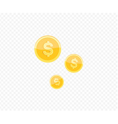 3d realistic gold coin icon vector image
