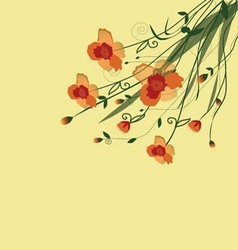 The flower vine vector