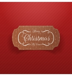 Christmas realistic cardboard banner vector