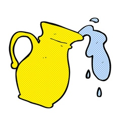 Comic cartoon water jug vector