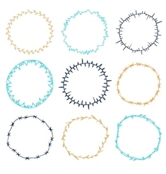 Set of decorative circle frames vector