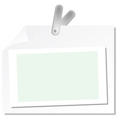 Paper with clip vector