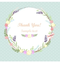 Floral frame card design vector