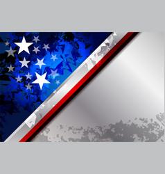 American flag star vector