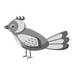 Bird icon gray monochrome style vector image