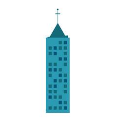 building urban skyscraper antenna vector image vector image