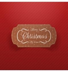 Christmas realistic cardboard Banner vector image vector image