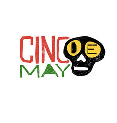 cinco de mayo typography cinco de mayo holiday vector image vector image