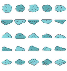 clouds set in cartoon style vector image vector image