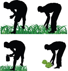 Farmer gardener vector image vector image