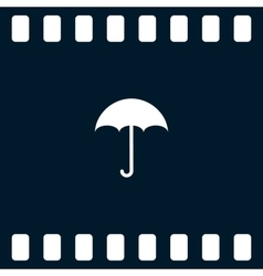 Flat paper cut style icon of umbrella vector image