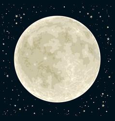 full moon vector image