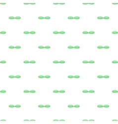 Green contact lens case pattern cartoon style vector