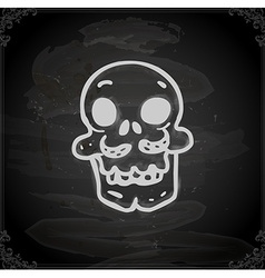Hand Drawn Skull with Moustache vector image vector image