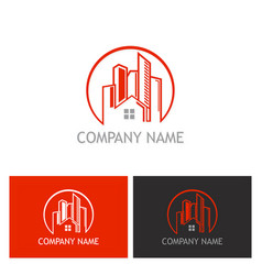home cityscape logo vector image vector image