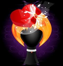 ladys wig vector image vector image