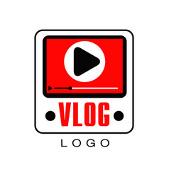 Logo for information video channel or vlog vector