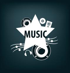 logo music vector image vector image