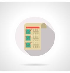 Medical prescription flat color design icon vector