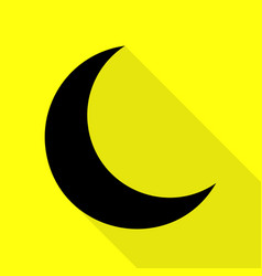 Moon sign black icon with flat style vector