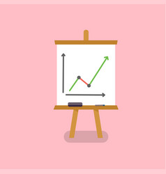 office white board in flat style vector image vector image