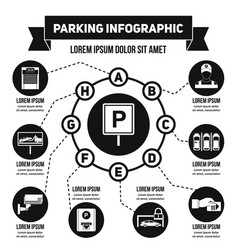 Parking infographic concept simple style vector